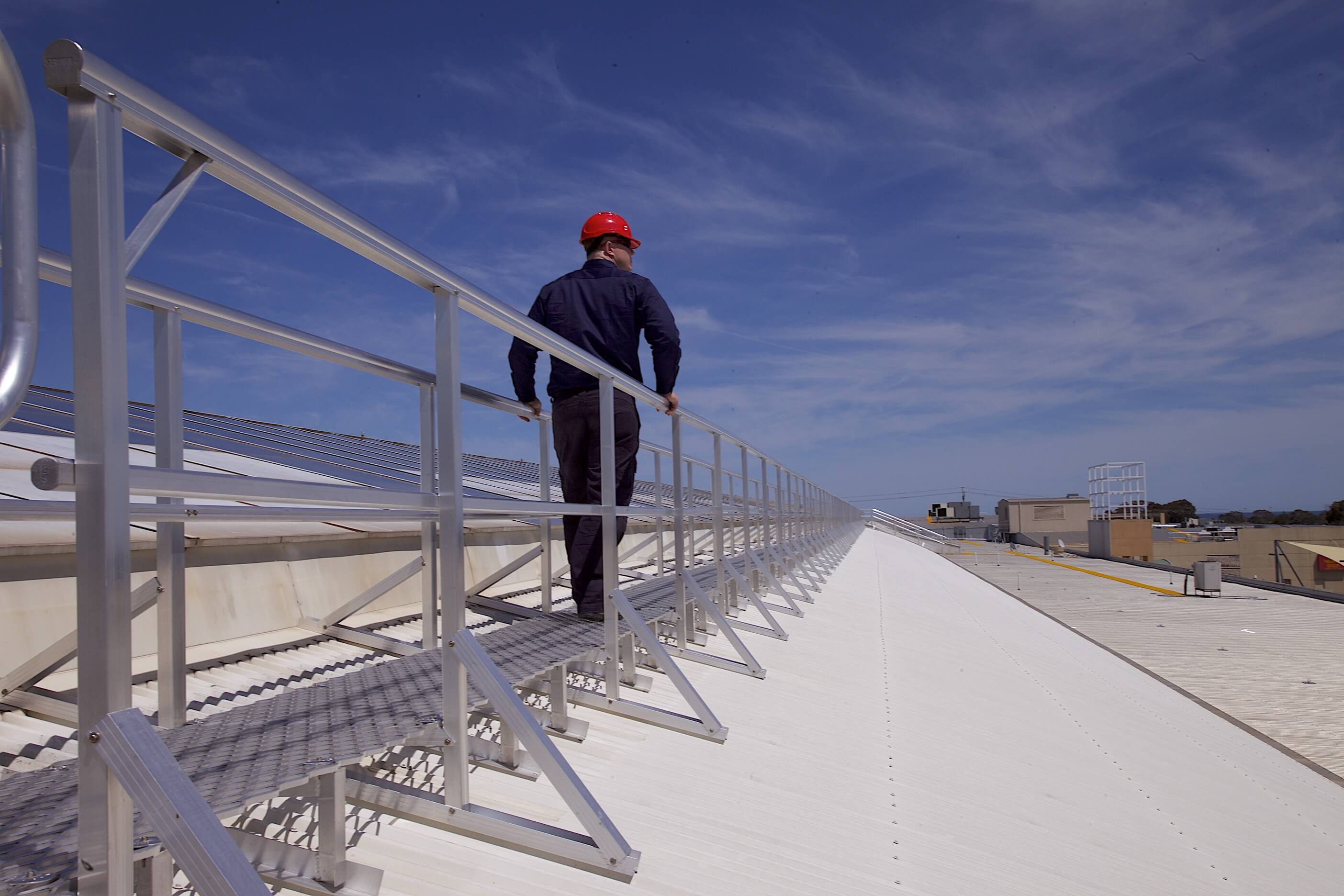 Roof Guardrail Systems - Roof Walkway Systems Melbourne